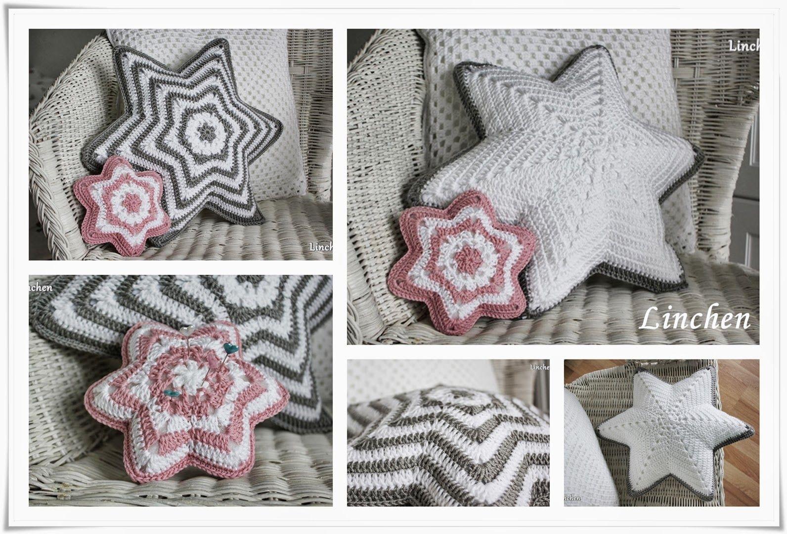 Sternenkissen Häkeln Kissen In Sternform Häkeln Anleitung Für Ein