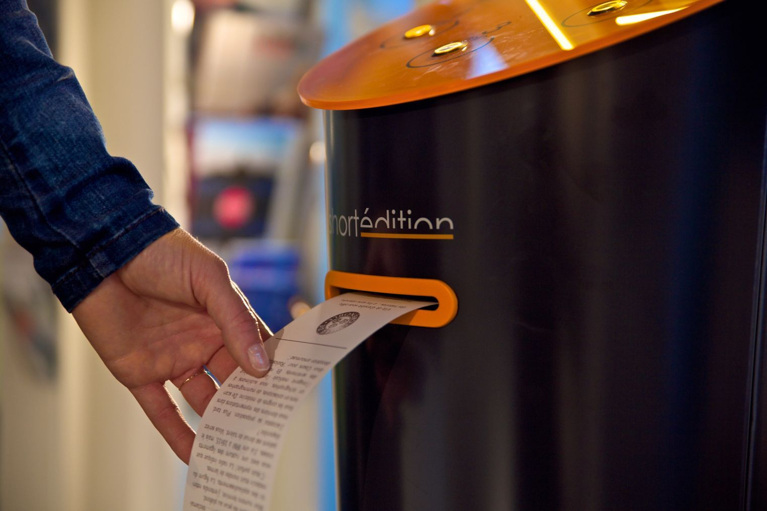 | French publisher Short Édition has now invented vending machines that print out short fiction instead of dispensing sweets and soft drinks