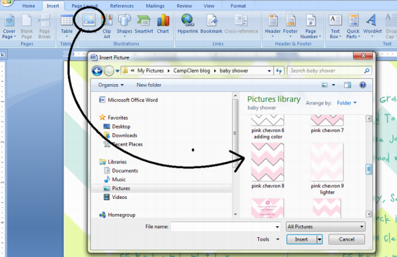 baby borders for word documents