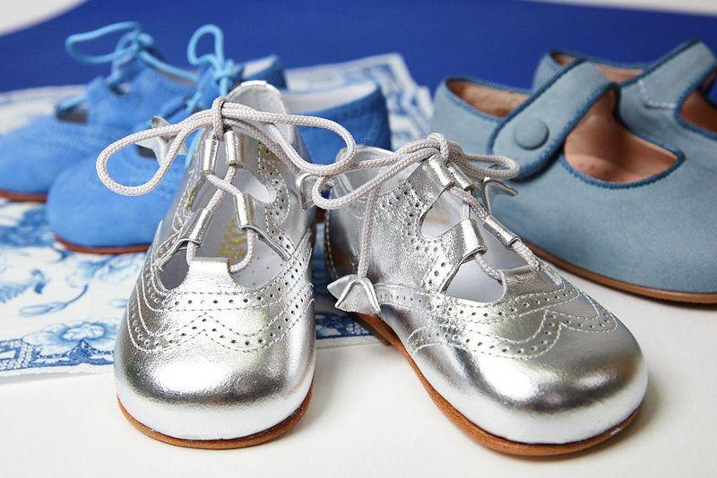 Zapato inglés metalizado bebé ceremonia Carrile | Zapatos