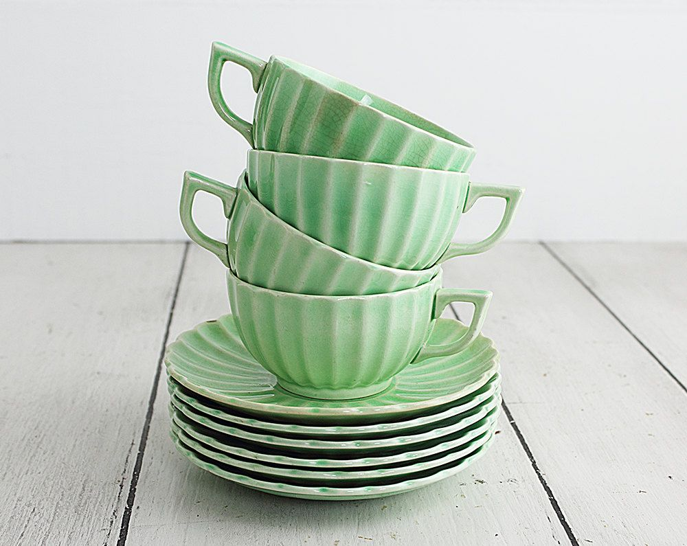 22 Pieces of Vintage Jade Ware by the Sebring Pottery Company from Zinnia Cottage  sc 1 st  Pinterest & 22 Pieces of Vintage Jade Ware by the Sebring Pottery Company from ...