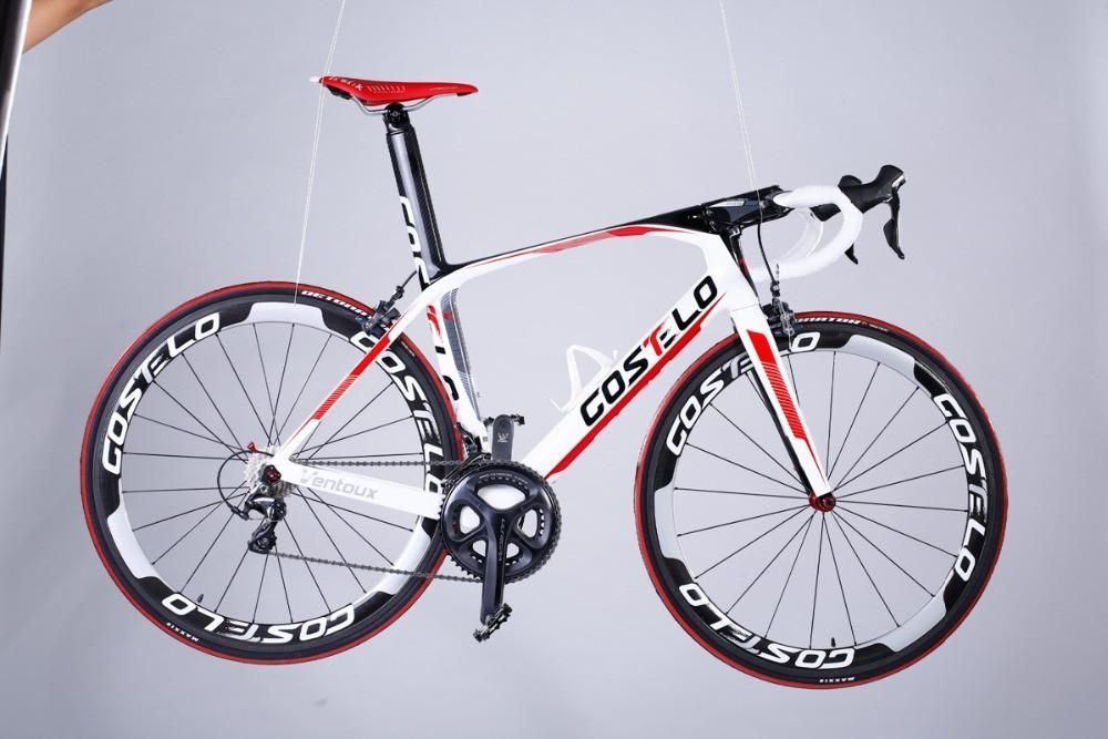 Costelo Ventoux Carbon Road Bicycle Complete Cheap Road Bikes Diy T1000 Full Carbon Road Bicycle Comfort Bike Bicycle Bike Riding Benefits