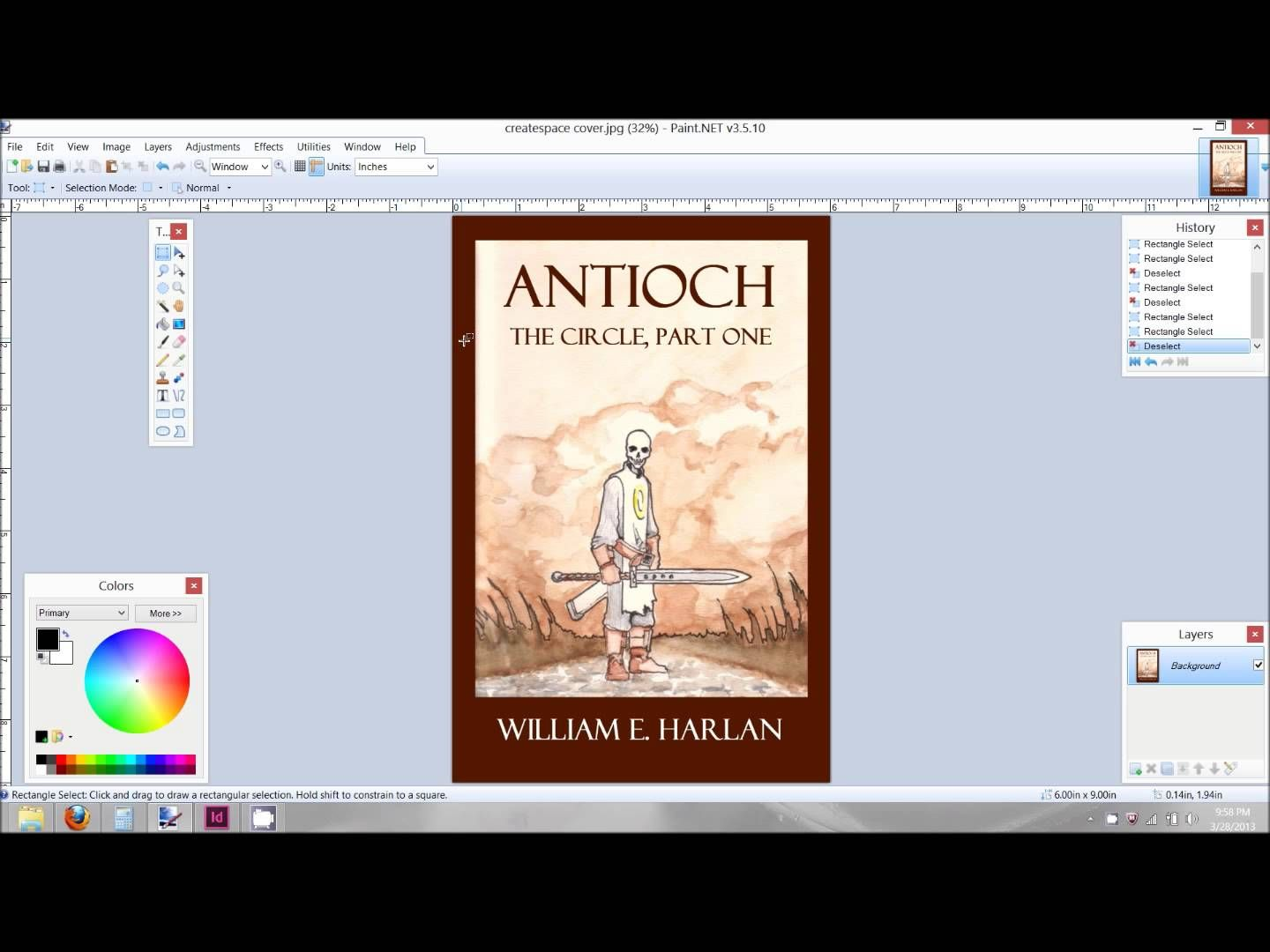 creating a book cover for createspace using adobe indesign i 3