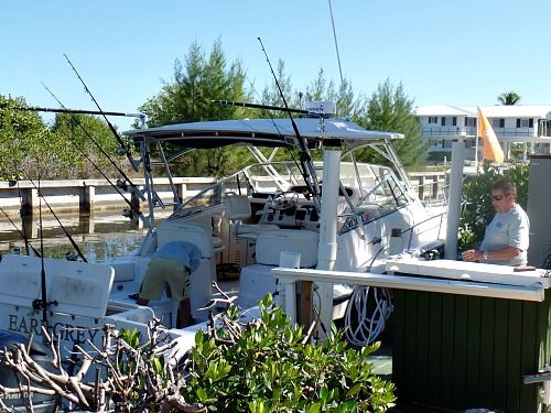 Hook Line Or Feather Marathon fishing charters 33 Foot Grady charter fishing boat