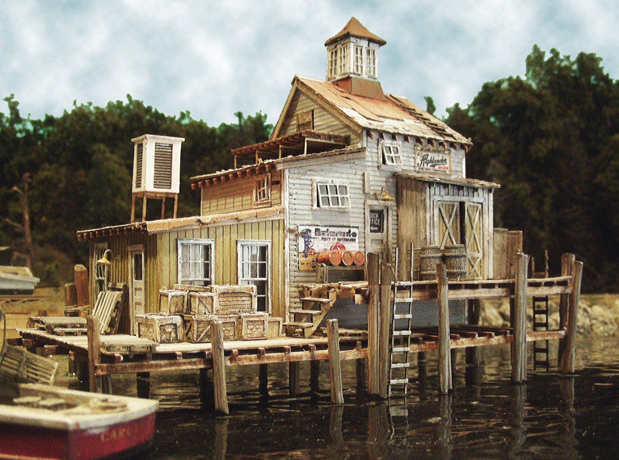 Bar Mills HO Dock House at Cundy Harbor Laser-Cut Wood Kit