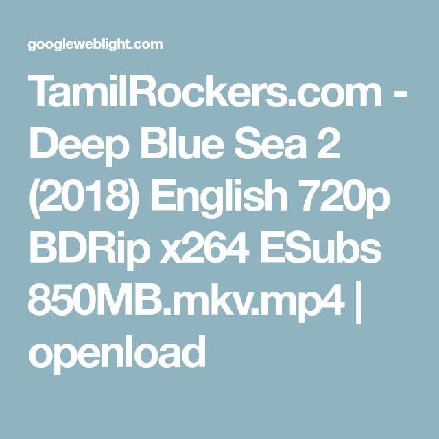 TamilRockers com - Deep Blue Sea 2 (2018) English 720p BDRip