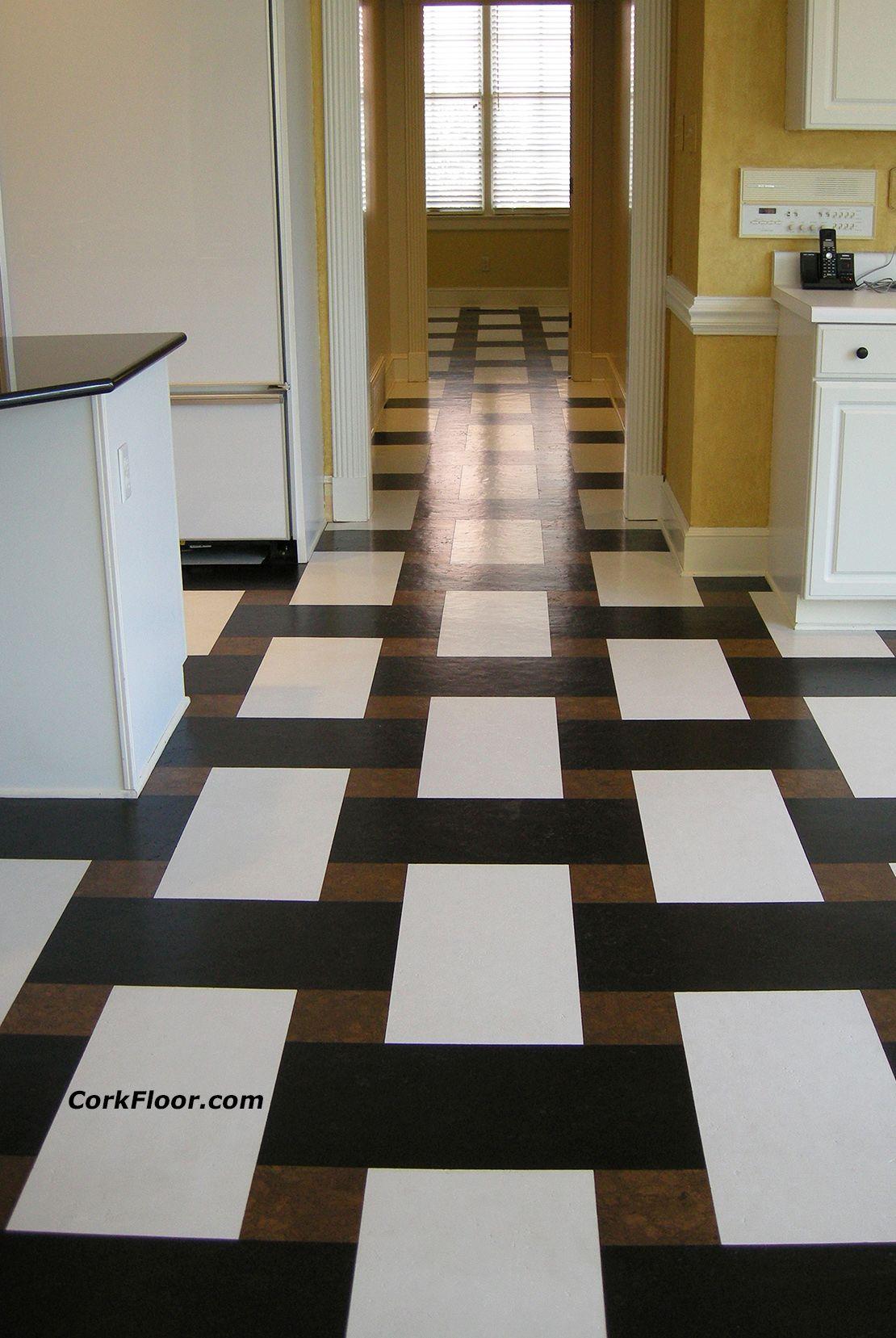 Cork Tiles In Basket Weave Pattern Beautiful Kitchen Tile Floor