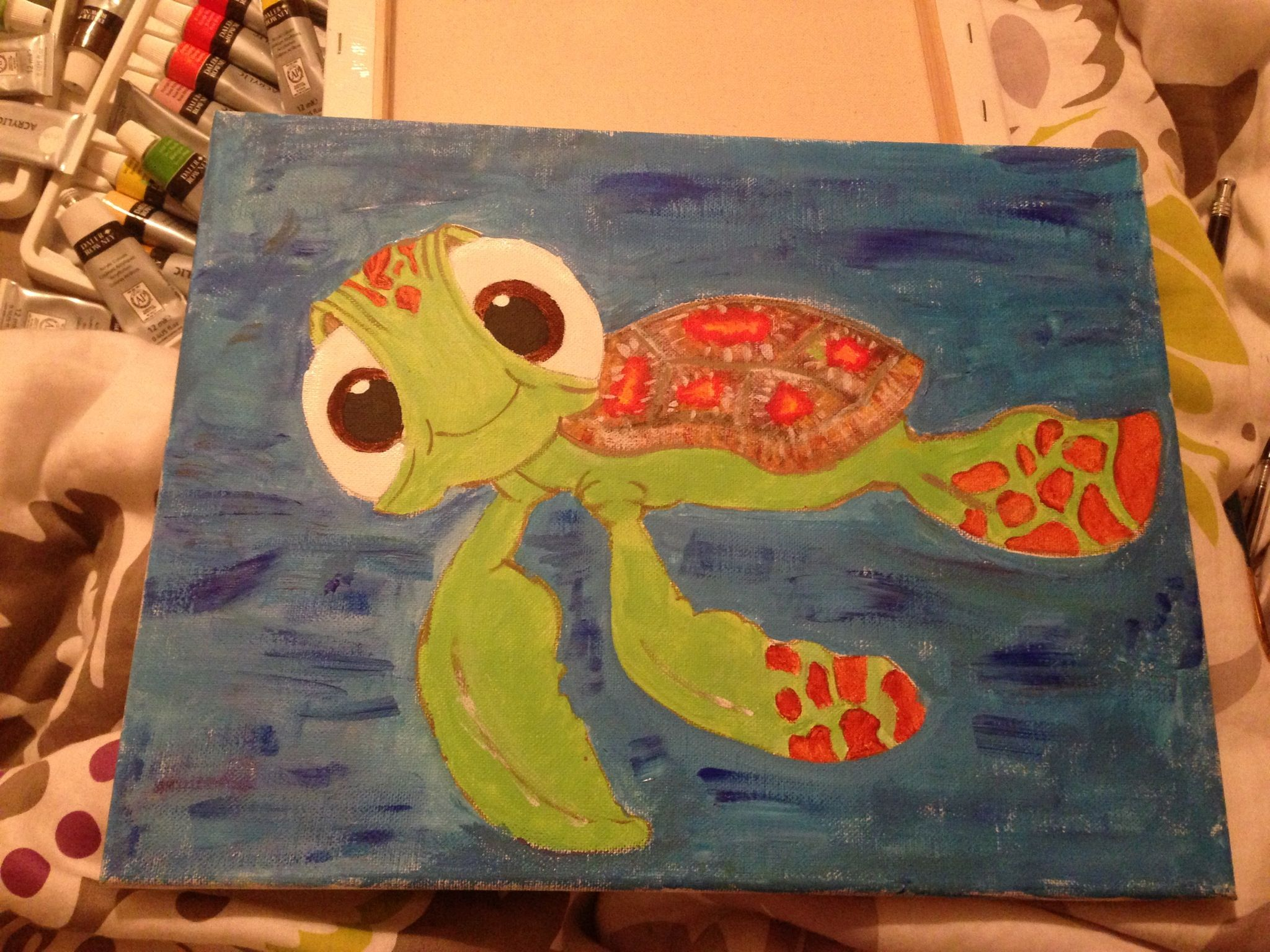 Squirt! Finding nemo turtle Canvas. If you want a canvas of anything ...