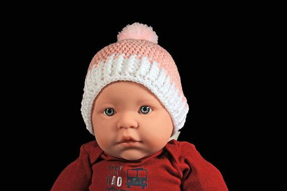 5a7343f4eda Winter Baby Hat Crochet Baby Girl s Hat Handmade