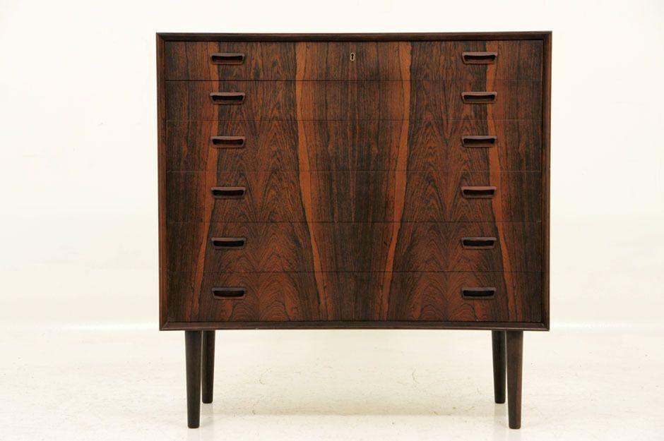 Danish Modern 6 Drawer Rosewood Danish Dresser Mcm
