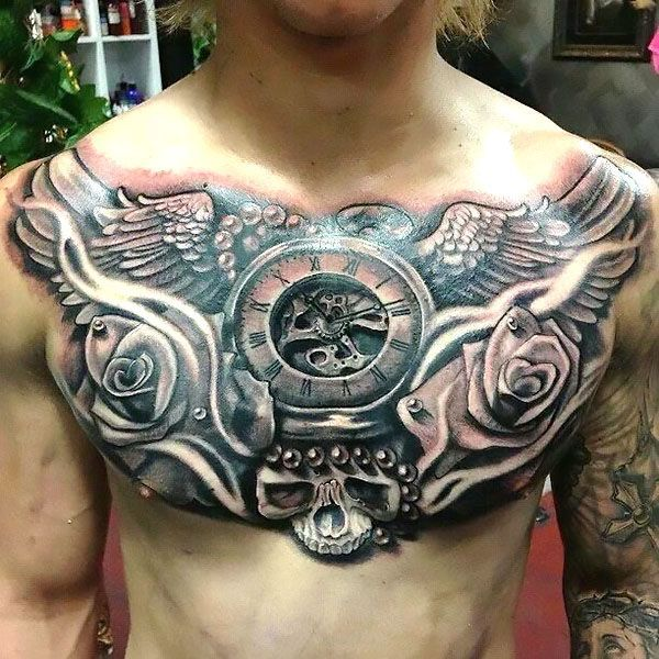 Small Acid Tattoo: 32 Awesome Chest Tattoos For Men