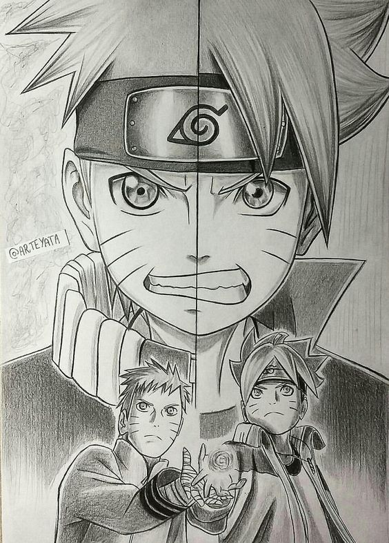 Video Desenhe Seus Personagens Favoritos Fan Art Naruto Naruto