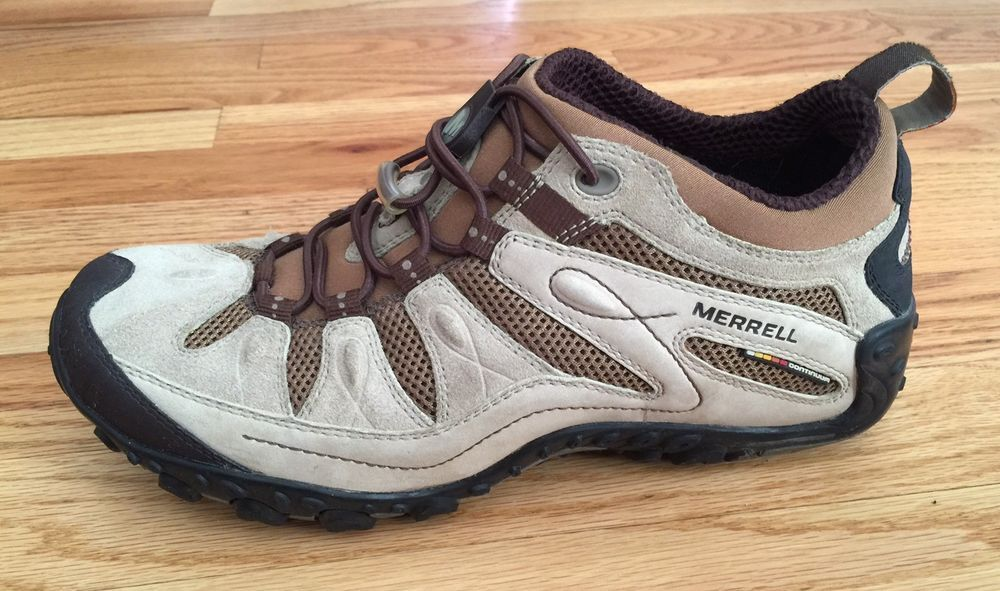MERRELL WOMENS CONTINUUM Vibram Air Cushion Ortholite Hiking Trails Shoes Size 8