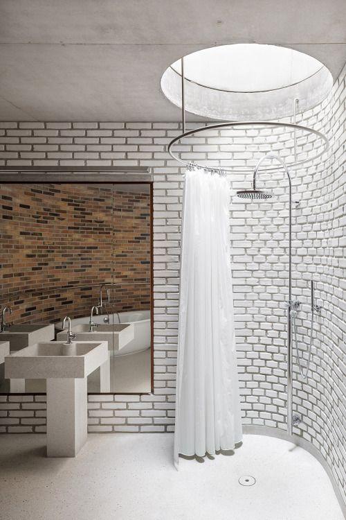 skylight over shower broekx schiepers architecten house h belgium 2015