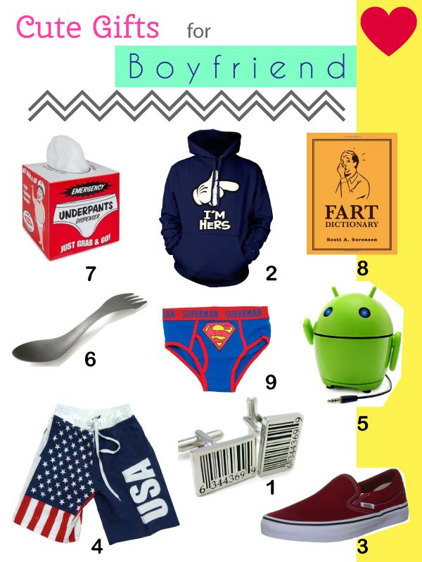 Cute Gifts For Boyfriend 10 Top Ideas