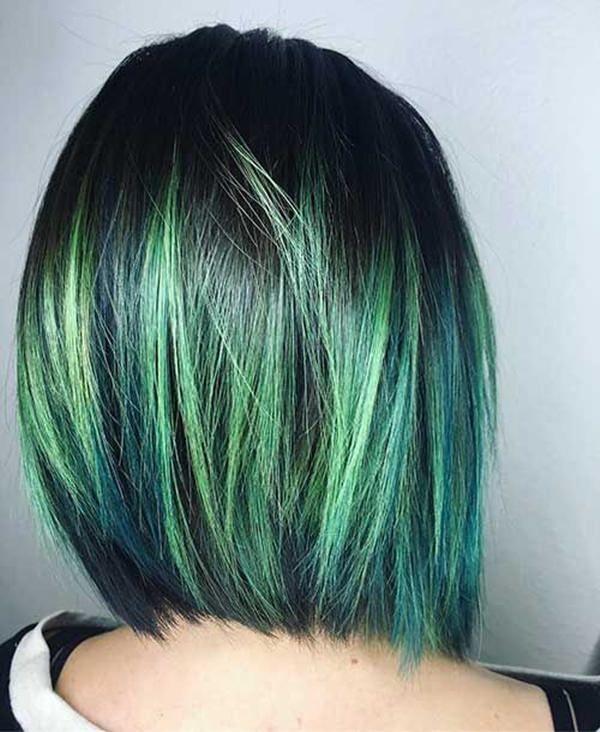 Grüne Haare