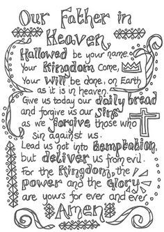 flame creative children ministry the lord prayer crafts games and prayer activities lords prayer coloring page - Father Coloring Page Catholic