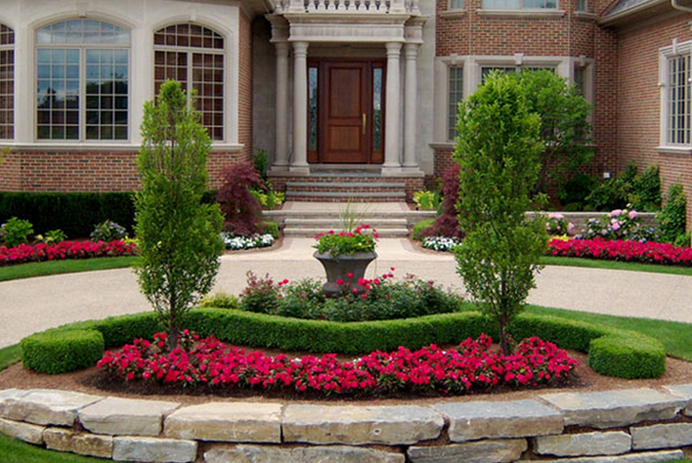 landscaping ideas for front of house contemporary front yard landscaping ideas on a budget - Front Yard Garden Ideas Pictures