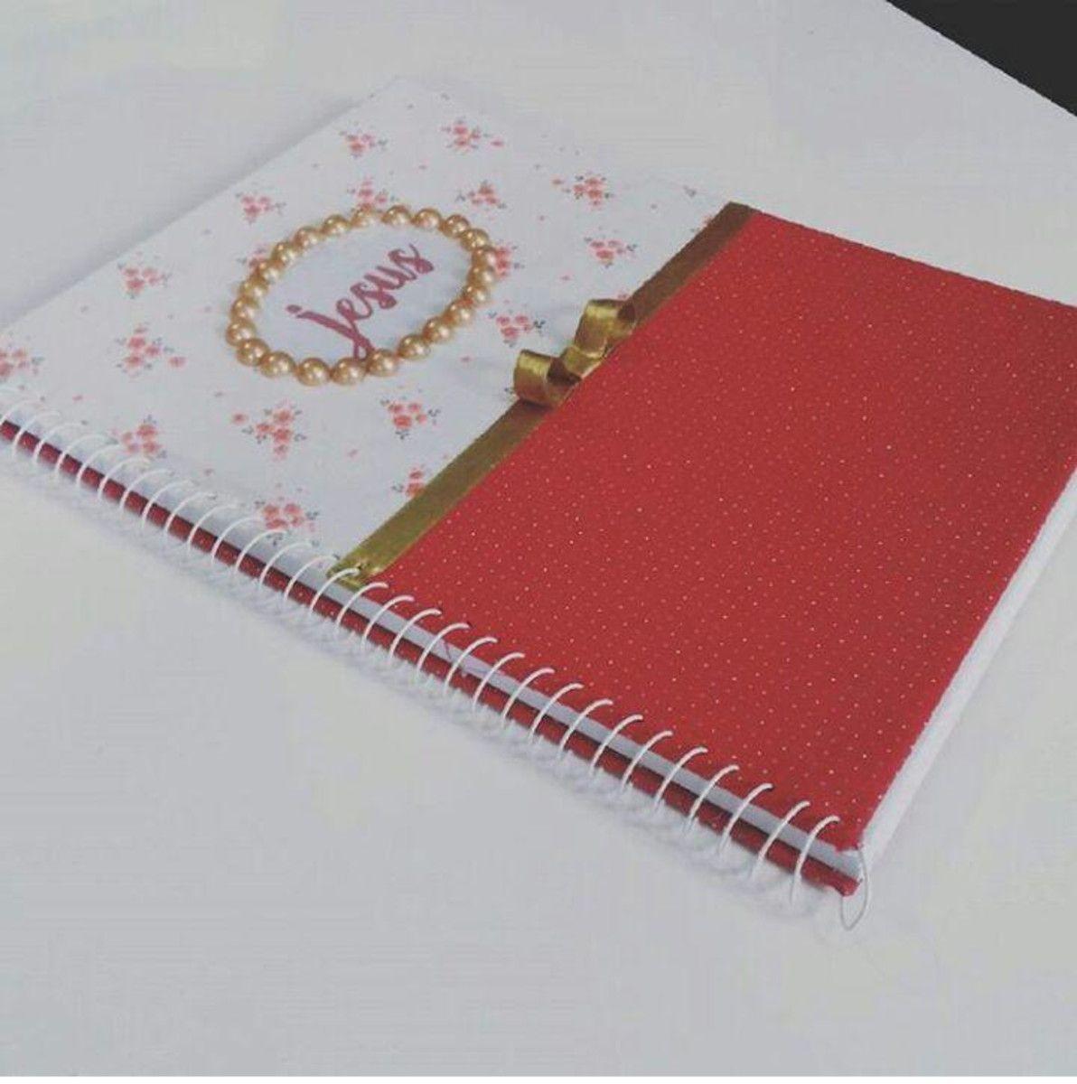 Caderno Personalizado Em Tecido Capas Caderno Biblias