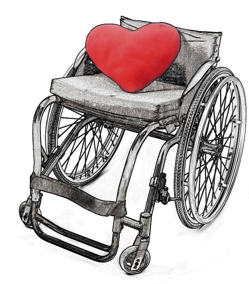 rollstuhl mit herz, wheelchair drawing | Rollstuhl (Zeichnungen ...
