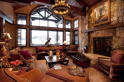 Rustic Mountain Home Interior Design Design Exposedbeam Decor