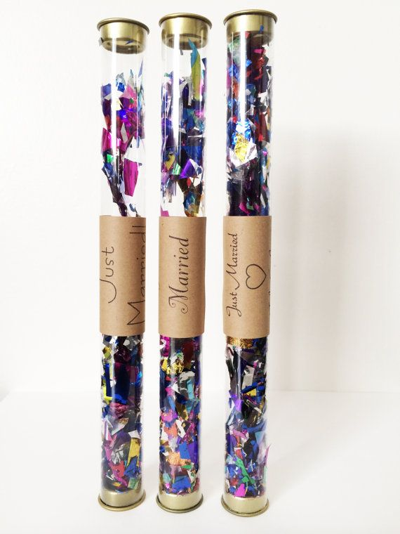 Colorful Confetti Wands // Wedding Confetti Wands by hopeandfancy