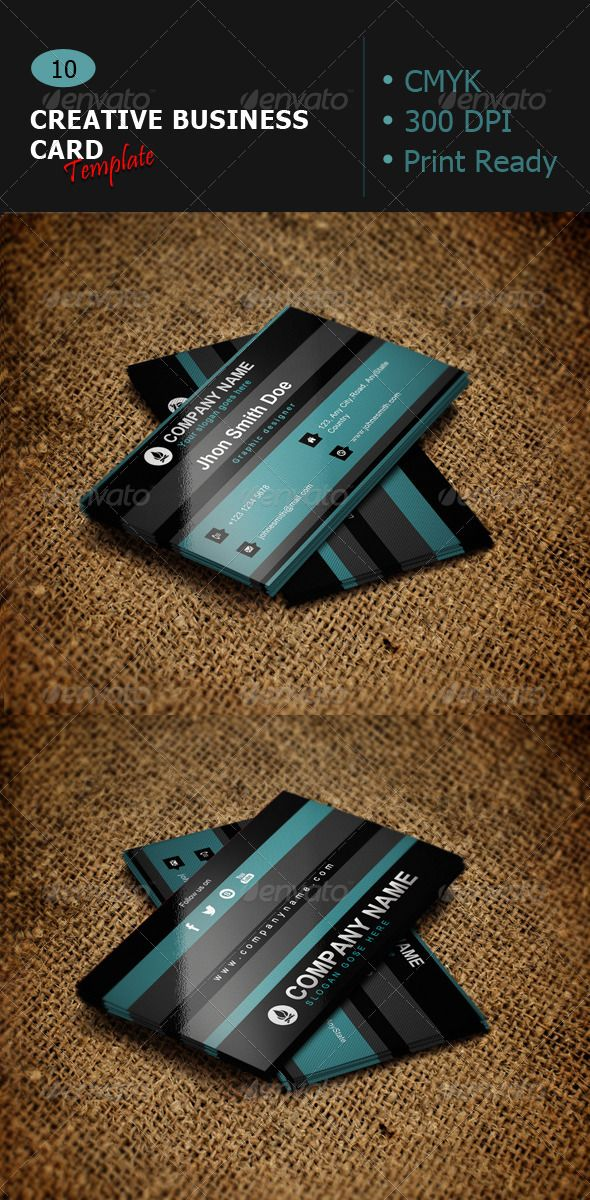 Creative Business Card Template 10 Card templates, Business - business manual templates
