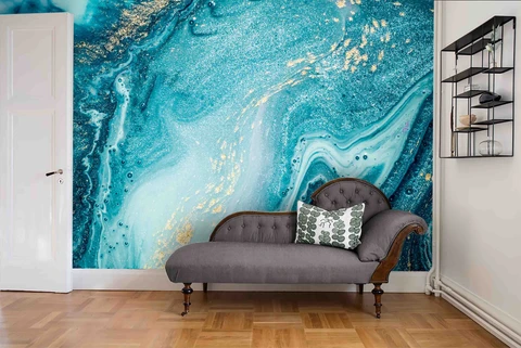 3d Abstract Blue Marble Wall Mural Wallpaper 33 With Images Blue Abstract Art Marble Wall Mural Mural Wallpaper