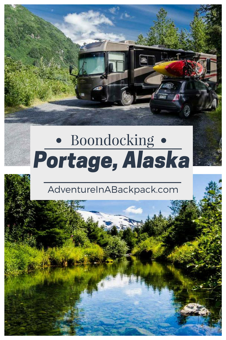 Check out this beautiful campsite in Portage Alaska, right ...