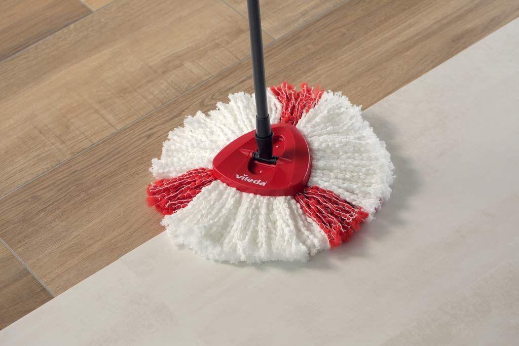 Details Sur Balai A Franges Professionnel Microfibre Rotatif Vileda Sceau A Pedale Nettoyage Balai A Franges Nettoyage Tout Pour La Maison