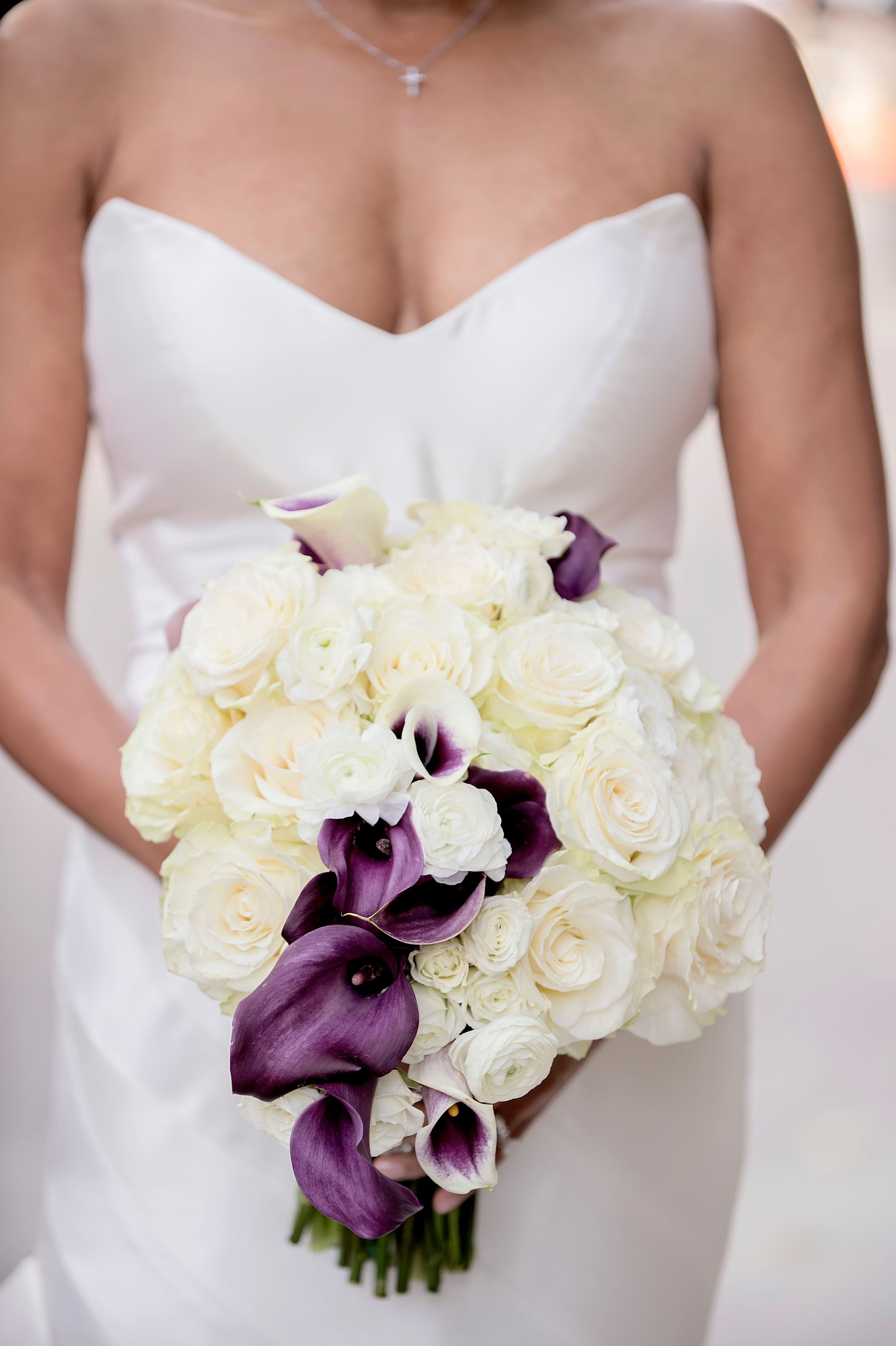Purple And White Bouquet Wedding Inspiration Pinterest White