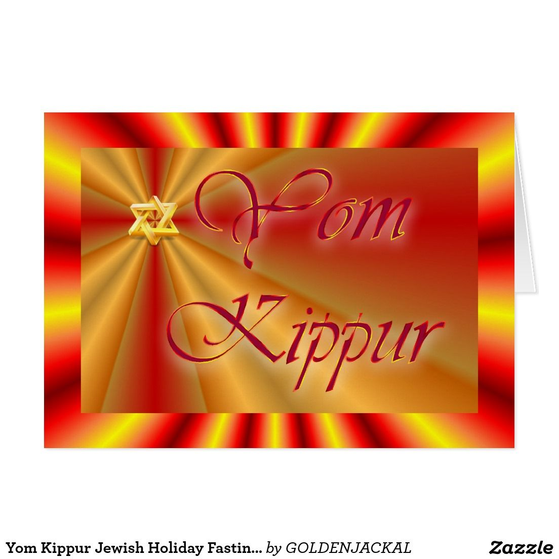 Yom Kippur Jewish Holiday Fasting Judaism Holy Day Card Pinterest