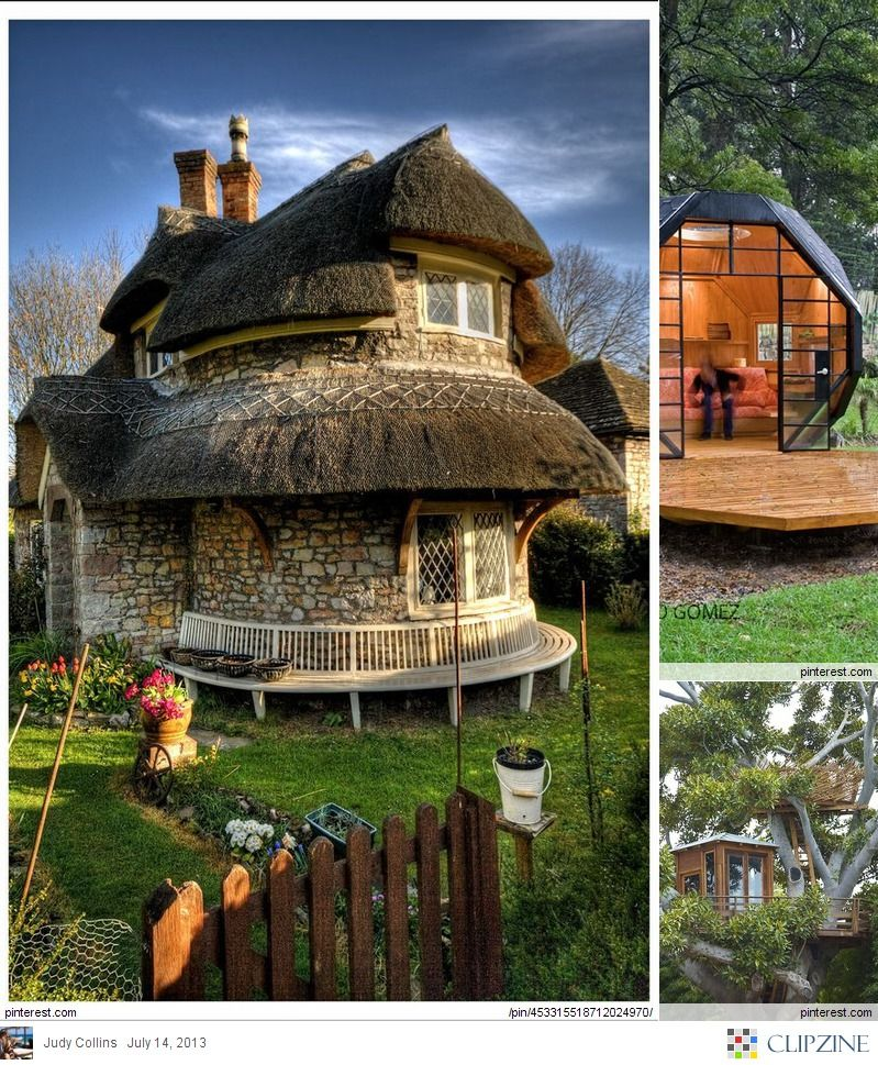 Funky Houses Storybook Cottage Thatched Cottage Stone Cottage