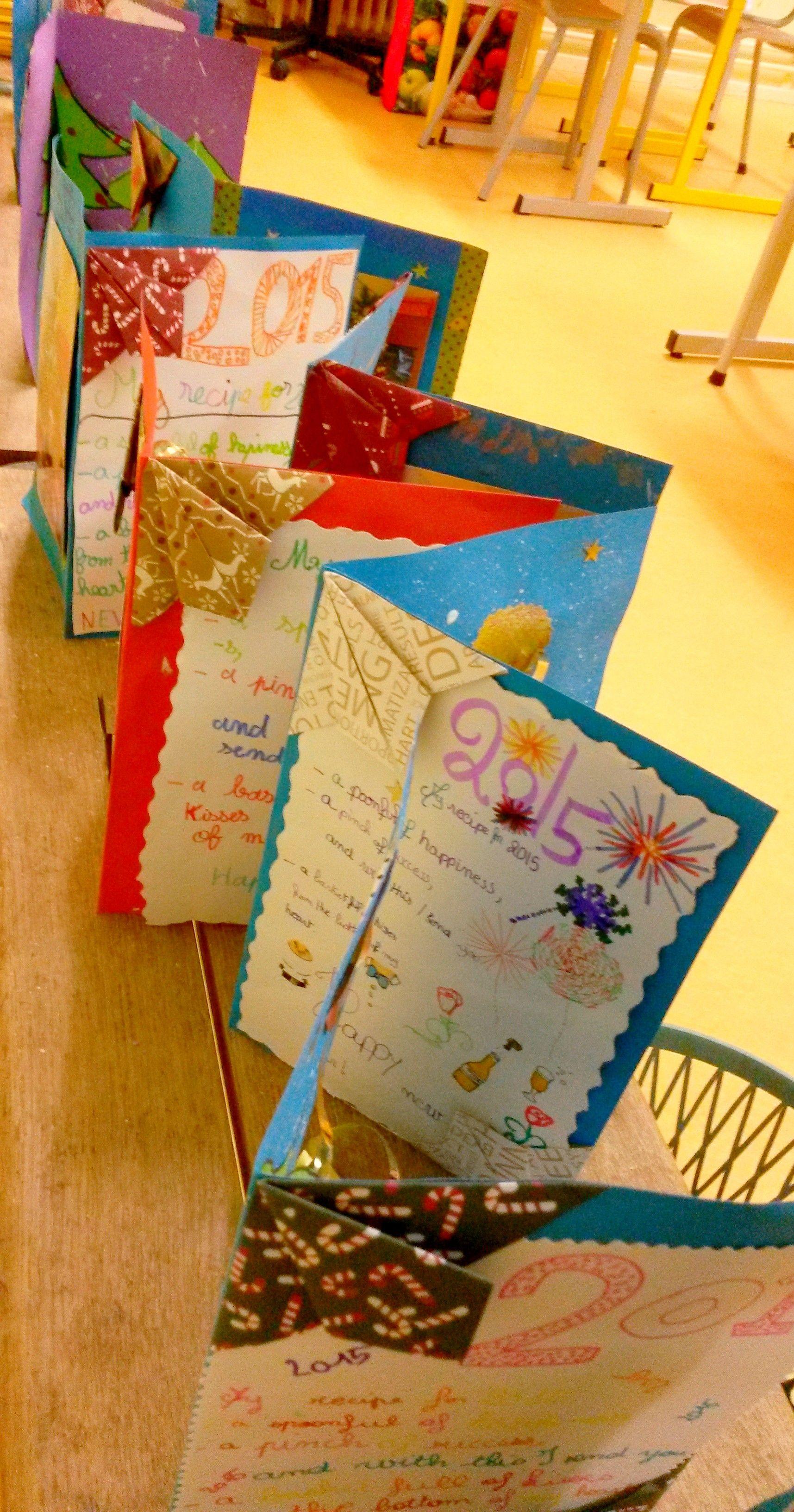 Productions élèves CM2   carte de vœux Noël première page avec