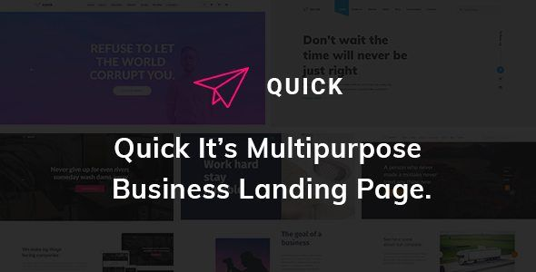 Download Quick Multipurpose Business Landing Page Html5 Template