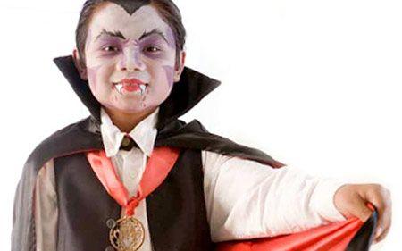Maquillaje de vampiro paso a paso Maquillaje infantil de Halloween