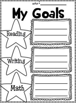 003 Back to School Writing Student Goal Setting Student