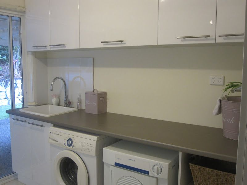 Bunnings laundry cabinets mf cabinets for Kitchen cabinets bunnings
