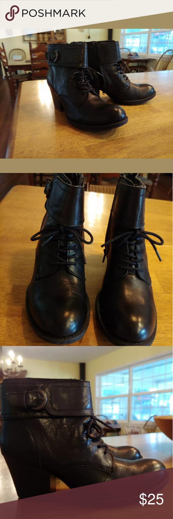 Born/B.O.C. Black Ankle Boots   Black