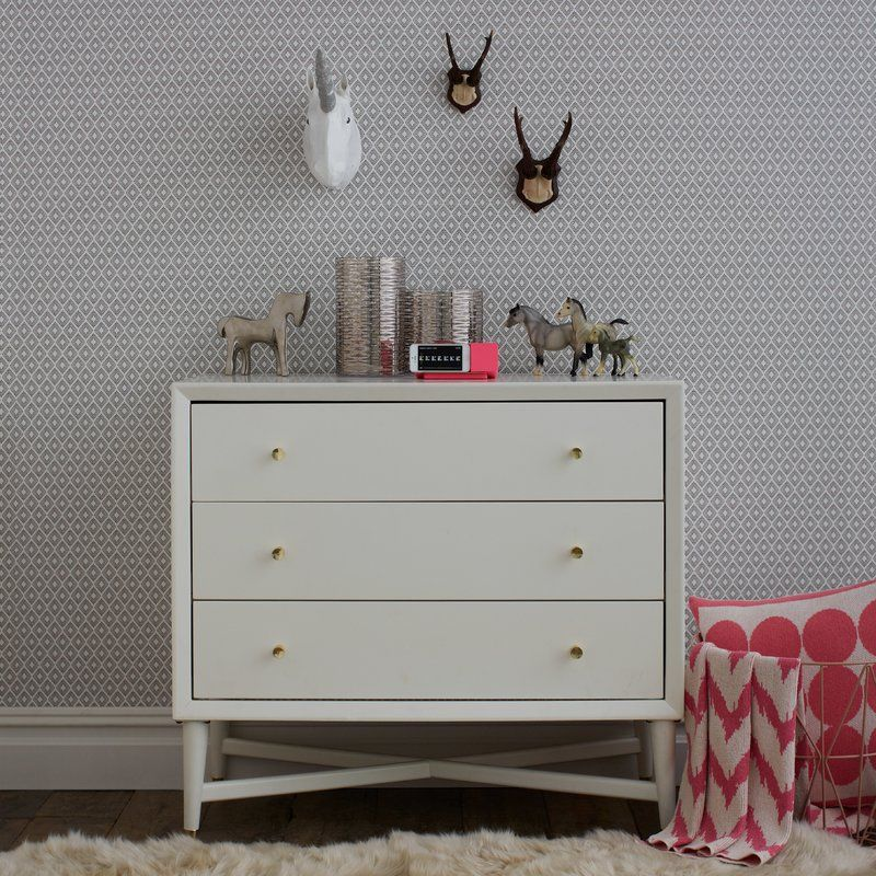 Dwellstudio Mid Century 3 Drawer French White Dresser Reviews Wayfair