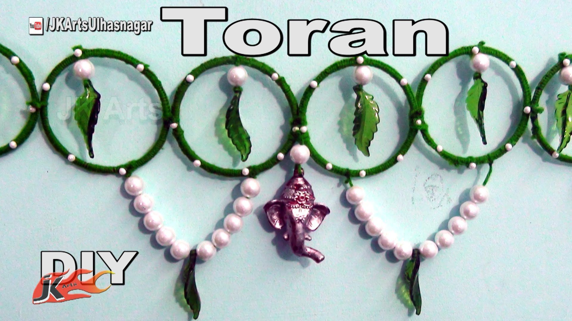 Diy toran bandhanwar from waste bangles how to make for Craft using waste bangles