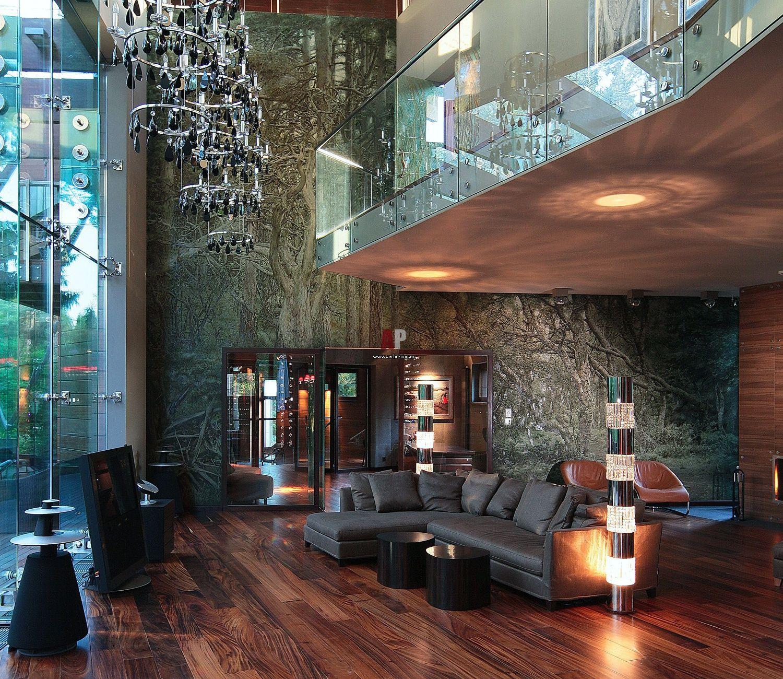 Интерьер дома в стиле экоконструктивизма