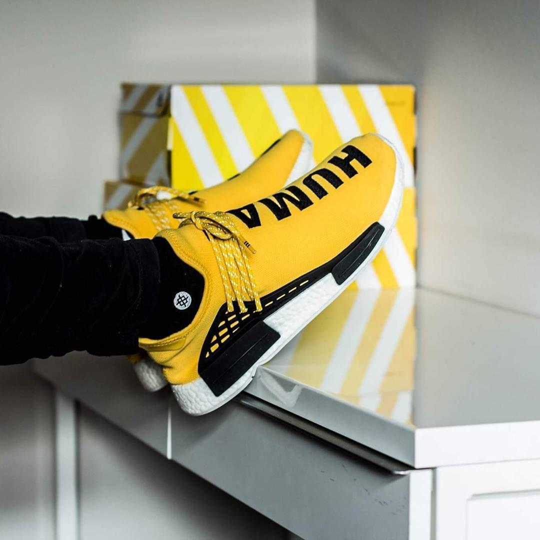 Giallo adidas pharrel nmd razza umana zapatos!pinterest nmd.