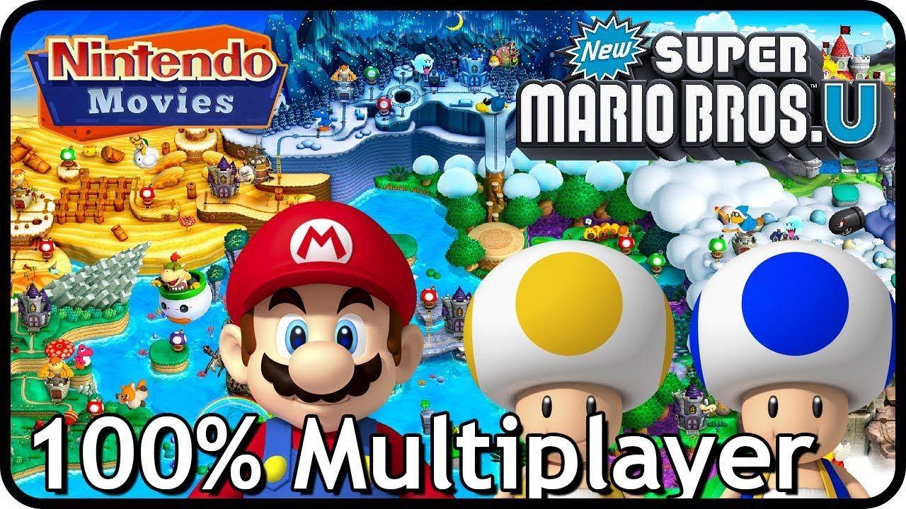 New Super Mario Bros U Deluxe Full Game All Worlds 100 Multiplayer Walkthrough Youtube Super Mario Bros Mario Bros Mario