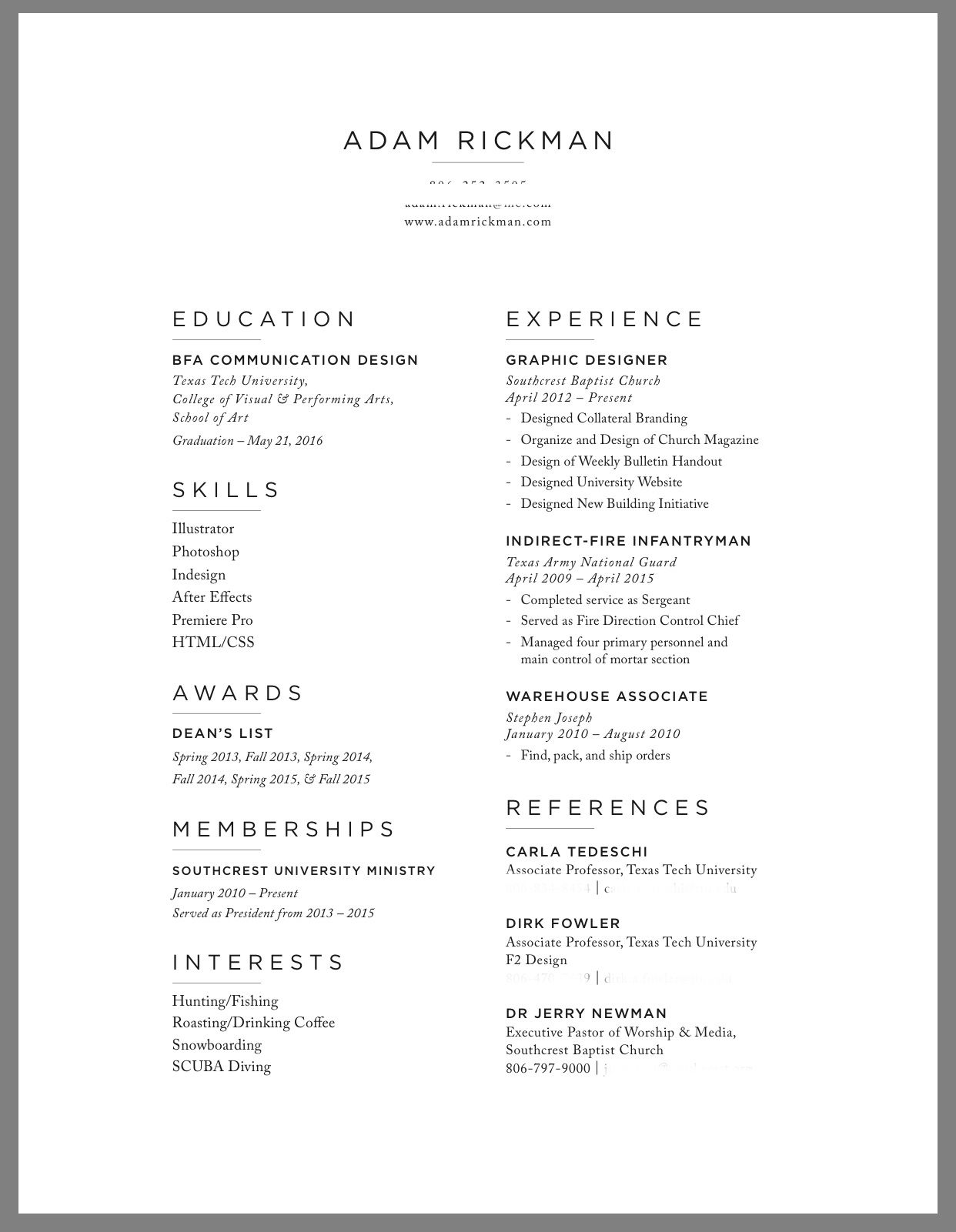 Best fonts for a CV / resume? : typography | new career | Pinterest ...