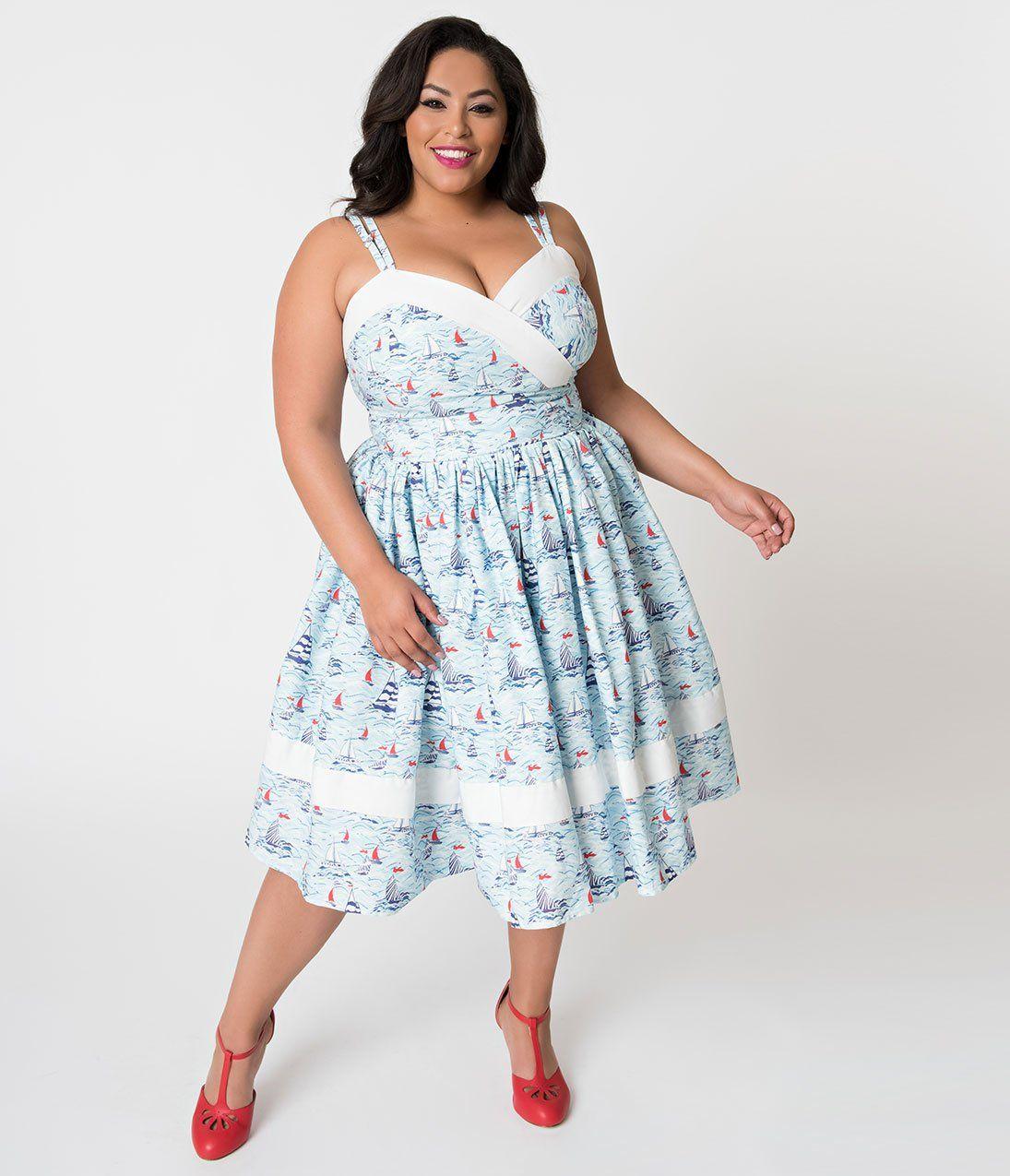 1950s Plus Size Dresses Clothing Plus Size Vintage Dresses Plus Size Sundress Plus Size Retro Dresses