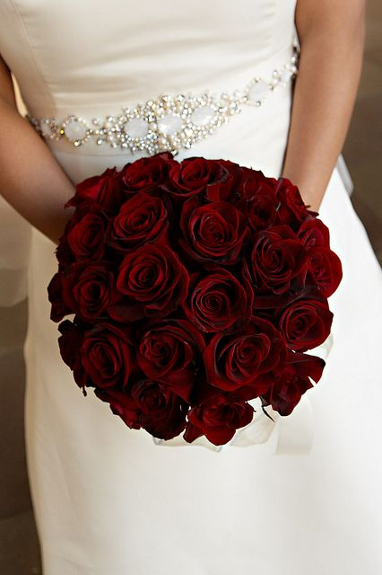 Red Rose Bridal Bouquet Wedding Flowers