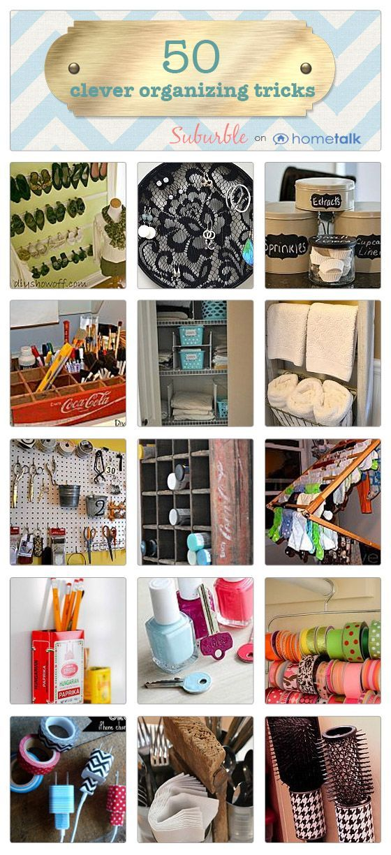 50 Organizing Ideas For Every Room In Your House: 50 Clever Organizing Tricks Idea Box By Tara @ Suburble