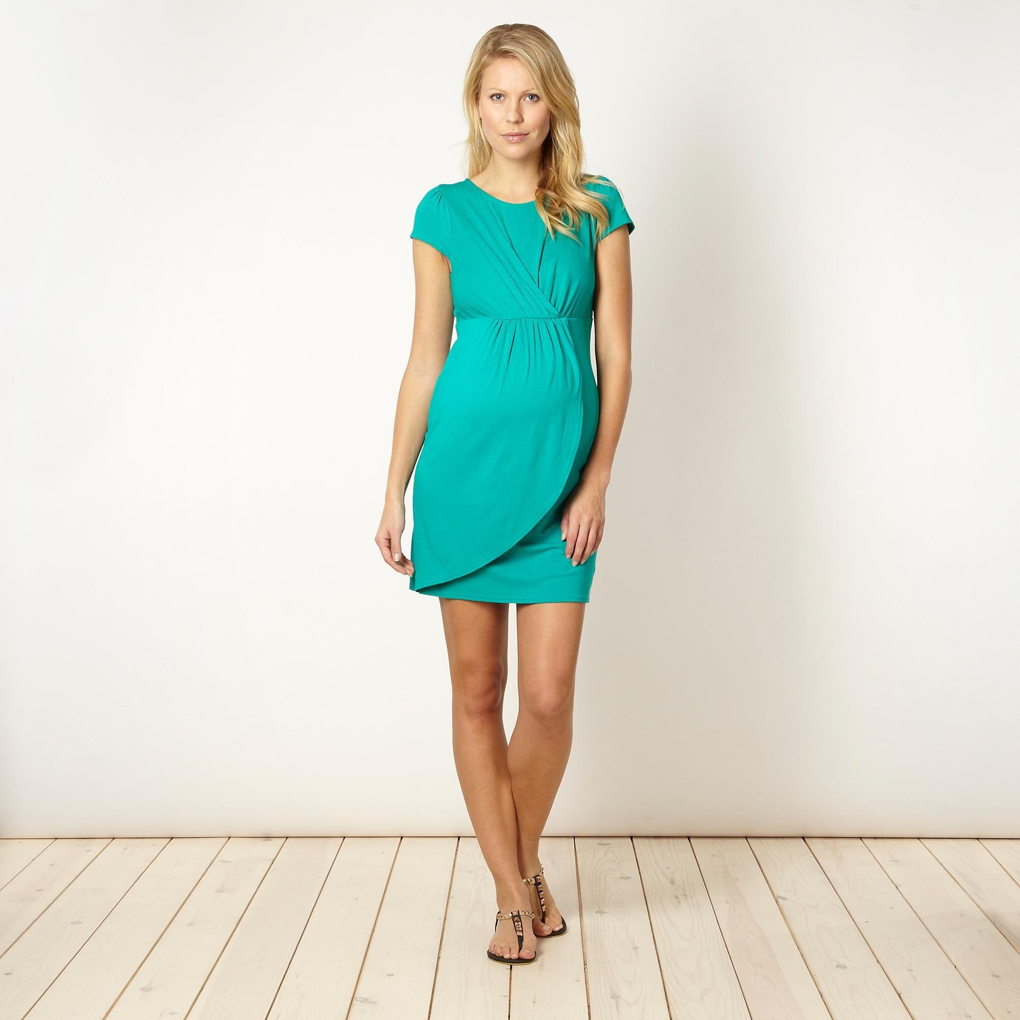 d539dfa7f5785 Black draped jersey maternity dress - Dresses - @Debenhams | MCW - E ...