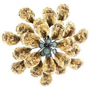 Rustic Metal Flower Wall Decor   Buy It - Home   Pinterest   Flower ...